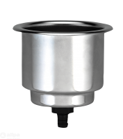NIRO Getränkehalter  nicht klappbar  Bohrloch 90mm  H=110mm