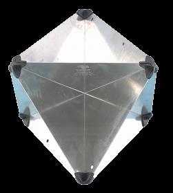 Aluminium Radarreflektor zusammenlegbar 300x215x215mm Echofläche: 8m² 470gr