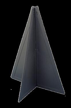 Kunststoff Signalkegel zusammenlegbar 470x330mm Schwarz