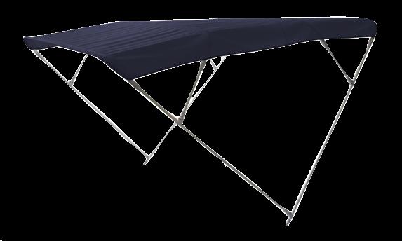 Aluminium Sonnen-Top Modell Wilma Navy 255x255x140cm