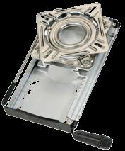 NIRO Drehscheibe mit Aluminium Schlitten ( 12-Positionen )