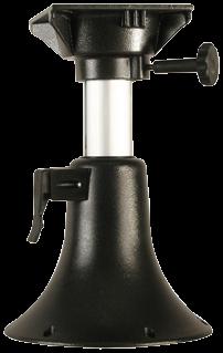 Aluminium Belle Verstellbares Tischbein H=330-430mm ( 5-Positionen ) Drehscheibe mit 4x Lock Fußp