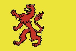 Zuid Holland Flagge 20x30cm