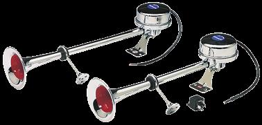 Messingverchromte Elektromagnetische Signalhorn Einklang L=470mm 12V ( 112dB(A)-320Hz )