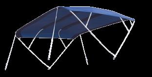 Aluminium Sonnen-Top Modell Sixty 255x255x140cm