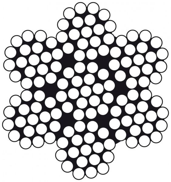 Edelstahldraht Wst.1.4401 7 x 19 12.0mm