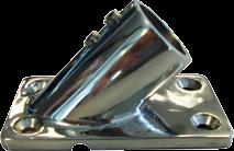NIRO Flaggenstockhalter mit Fuß 45° Innenmaß Ø22mm