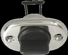 NIRO Lensstecker mit Stopfen aus Kunststoff