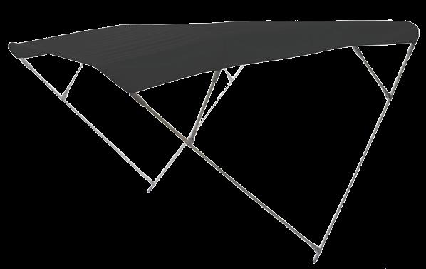 Aluminium Sonnen-Top Modell Wilma Navy 255x175x150cm