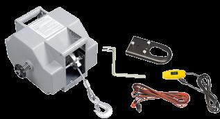 Elektrische Trailerwinde 12V Max. 50A Inklusive Fernbedienung