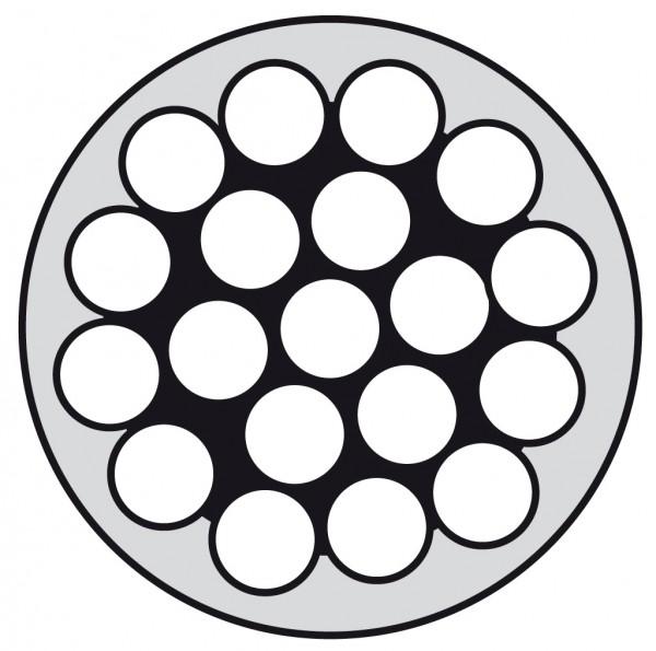 Edelstahldraht Wst1.4401 1x19 4/6 PVC weiß ummant.