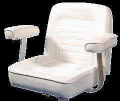 Steuerstuhl Modell Royal Weiß Marinevinyl