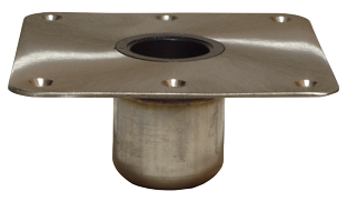 "Spring-Lock Serie NIRO Fuß 7x7"" ( 178x178mm ) Satiniert"""