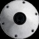 Plug-in Aluminium Fußplatte Ø230mm