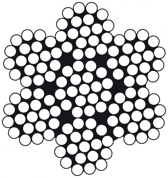 Edelstahldraht Wst.1.4401 7 x 19 4.0mm