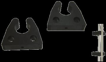 Gummi Halter für Rohr Ø22-25mm Schwarz ( per paar )