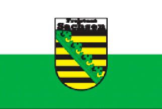 Freistaat Sachsen Flagge 20x30cm