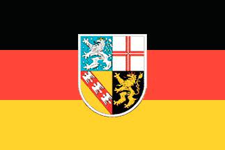 Saarland Flagge 20x30cm