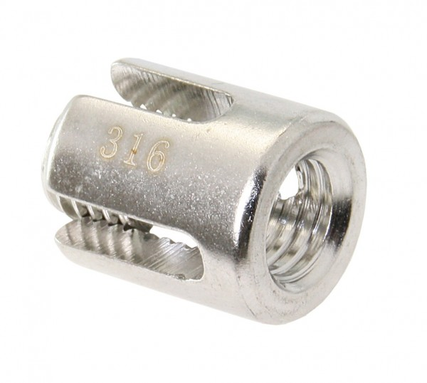 Seilkreuzklemme Edelst.4+5mm offener Boden M12