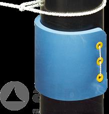 Pfahlfender ( ohne Befestigungsgummi ), 720x310x28mm ( lxbxh ), blau