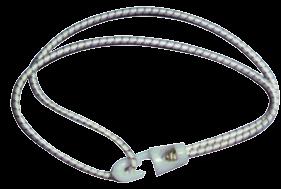 Segelzeising mit Kunststoff Haken & Schleife L=200mm