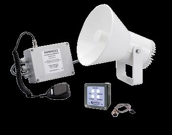 Wassergeschützter ( IP67 ) Schallsignalanleige 12V für Warnsignalen ( Nebel ) Radio Stimmeverstärk