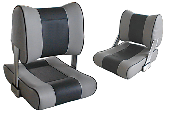 Steuerstuhl Modell Twin Grau/Dunkelgrau