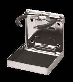 NIRO Getränkehalter mit Federgrip klappbar 98 4x102mm