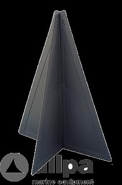 Signalkegel schwarz kunststoff; 470x330mm