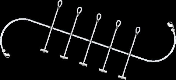 Segelspinne L=3000mm Ø8mm