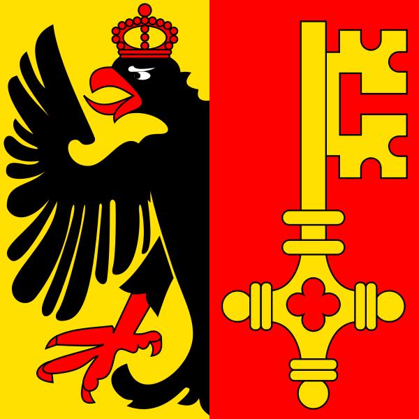 Genf Flagge 20x30cm