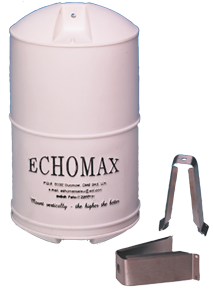 Echomax EM230 Midi Radarreflektor mit NIRO Mastbügel Weiss