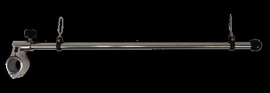 NIRO Flaggenstock L=450mm voor montage op Railing Ø25mm