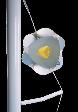 """Aluminium Halterung Radarreflektor navy Star"""" für Segelboot ( B )"""""""