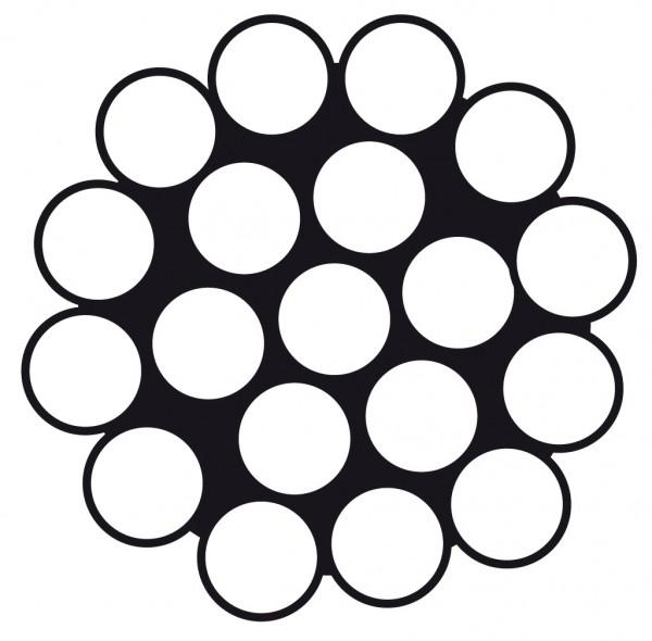 Edelstahldrahtseil Wst. 1.4401 1x19 4mm