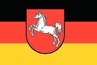 Niedersachsen Flagge 20x30cm