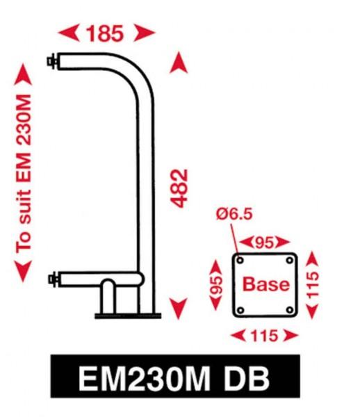 Echomax 230M-DB NIRO Bügel für Deckmontage EM230-Midi