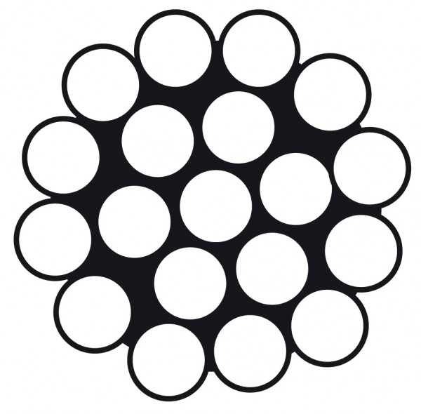 Edelstahldraht Wst.1.4401 1 x 19 10.0mm