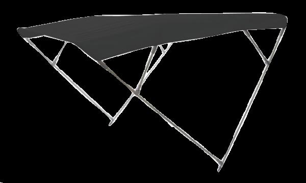 Aluminium Sonnen-Top Modell Wilma Schwarz 255x225x140cm