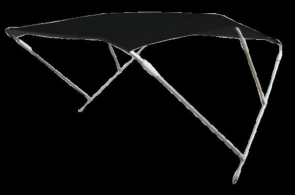 Aluminium Sonnen-Top Modell Wilma Schwarz 180x150x110cm
