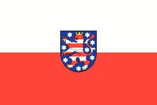 Thüringen Flagge 20x30cm