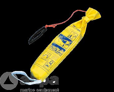 Polypropylen Rettungswurfleine, schwimmend, Ø6mm, L=23m, in Tasch mit Wurfgewicht