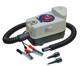 Bravo BP Luftpumpe 12V inklusive Batterie Batterie-Anschlußsatz & 220V Ladergerät
