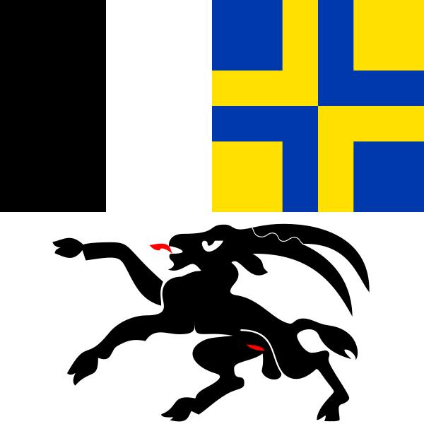 Graubünden Flagge 20x30cm